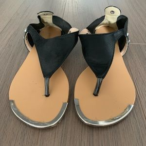 Bamboo black sandals